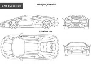 lamborghini reventon cad blocks in plan front side