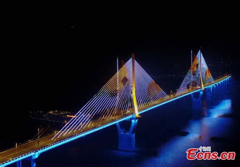 3d light show stunning 3d light show on chongqing bridge 5 5