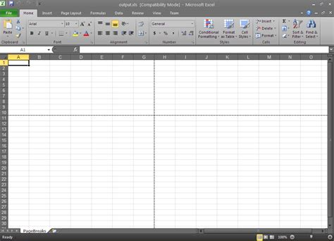 remove page layout lines excel how to add a page break in excel 2013 how to add page