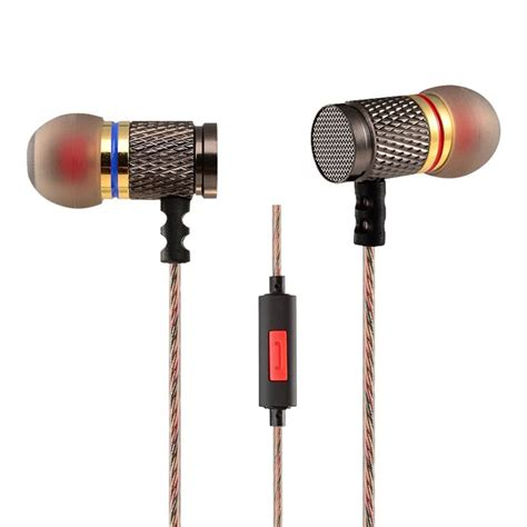 knowledge zenith special edition 7mm in ear earphones dual magnetic sound unit with microphone