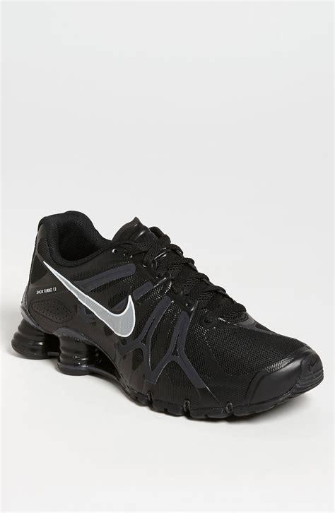 nike shox turbo 13 running shoe in for black