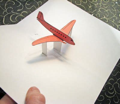 3d Airplane Card Template by Airplane Pop Up Card Pop Up Airplanes