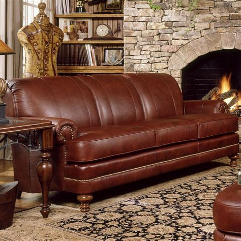 smith brothers leather reclining sofa upholstered stationary sofa by smith brothers wolf and