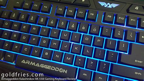 Keyboard Gaming Armageddon armaggeddon kalashinikov ak 550i gaming keyboard review goldfries