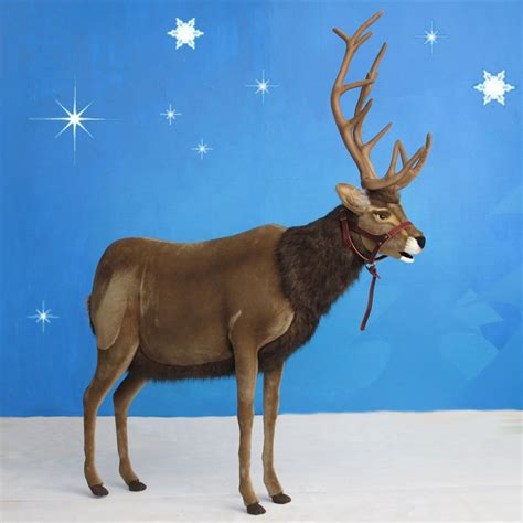 life sized hansa reindeer with halter ride on 60 quot