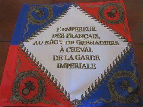 Taille Des Grenadiers by Drapeau Des Grenadiers 224 Cheval En 1804 Recto Taille