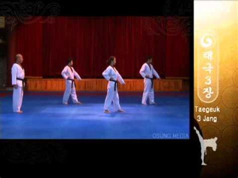 youtube taekwondo pattern 2 grand master kyu hyung lee wtf taegeuk sam jang youtube