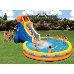 best backyard pools for kids inflatable water slides water slides and water on pinterest