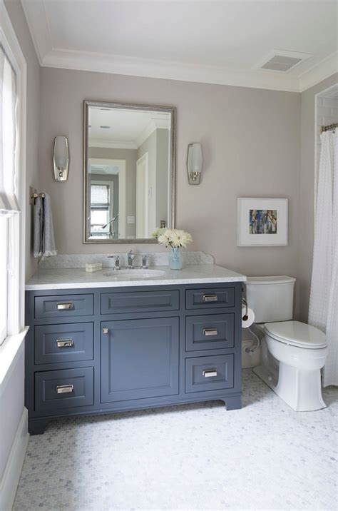 navy blue cabinet paint navy bathroom decorating ideas