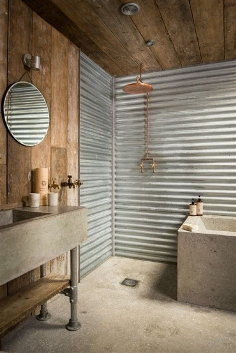 corrugated metal bathroom 31 concrete flooring ideas with pros and cons digsdigs