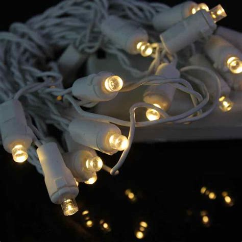 battery powered led christmas lights conical warm white