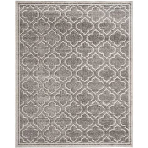 Gray Outdoor Rug Safavieh Amherst Gray Light Gray 11 Ft X 16 Ft Indoor Outdoor Area Rug Amt412c 1116 The Home