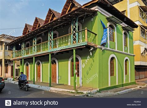buy a house in goa india goa portuguese houses in fontainhas district in panaji stock photo royalty free