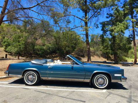 2 Door Cadillac Convertible 1985 Cadillac Eldorado Biarritz Convertible 2 Door No