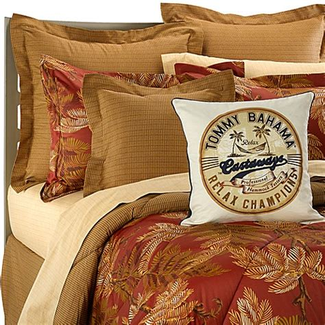 tommy bahama 174 orange cay comforter set bed bath beyond