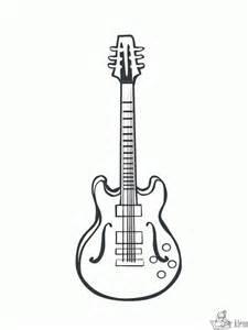 kleurplaten gitaar kleurplaten kleurplaat nl