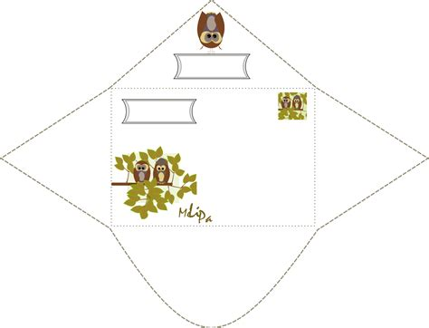 printable envelope borders free printable owl envelope and stationery ausdruckbarer