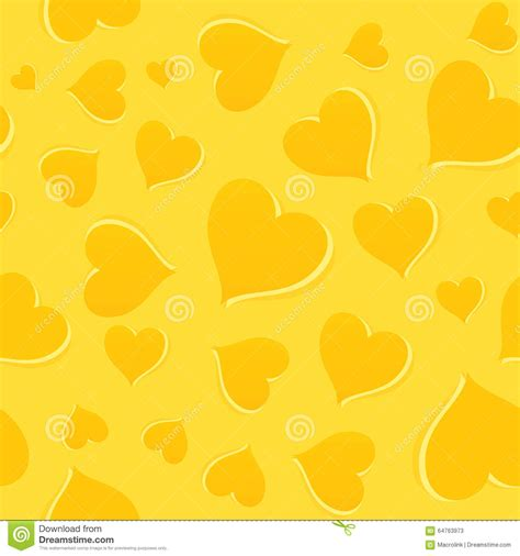 yellow heart pattern yellow pattern with hearts stock vector image 64763973