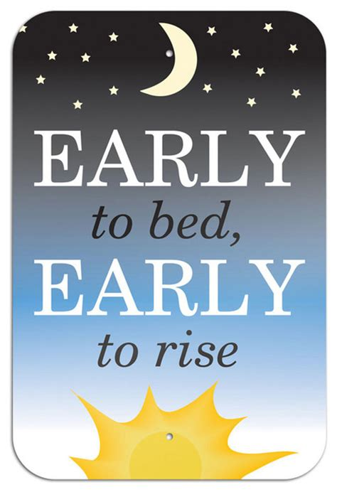 early to bed early to rise early to bed early to rise metal sign 6 quot x 9