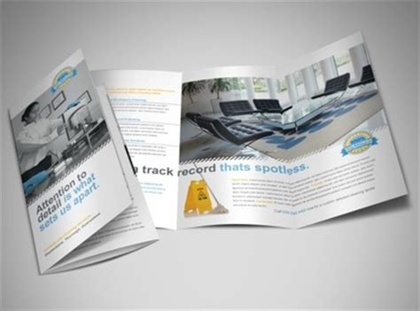 commercial cleaning brochure templates commercial office cleaning janitorial services tri fold brochure templates