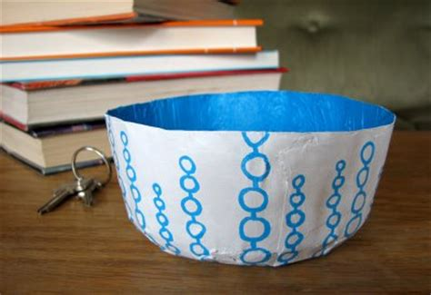 How To Make A Paper Bowl - make a paper bowl to stash your and change brit co