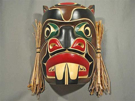 beaver mask native art