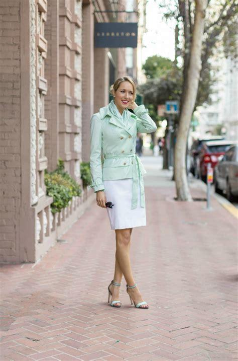 Jaket New Fashion Black Green Orange White Stylish New Impor mint green clothing and brown leather flare skirt