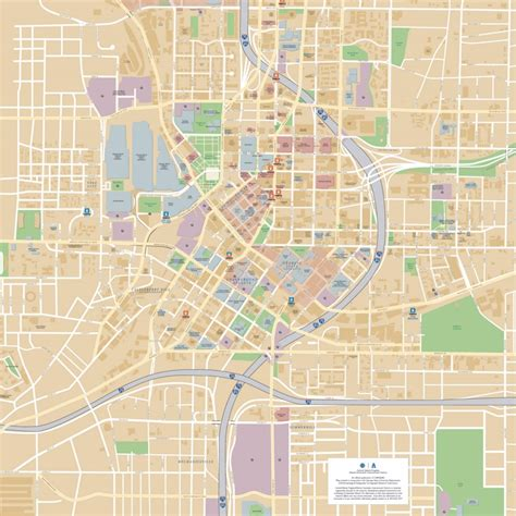 atlanta map usa atlanta downtown map