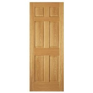 steves sons 6 panel unfinished oak interior door