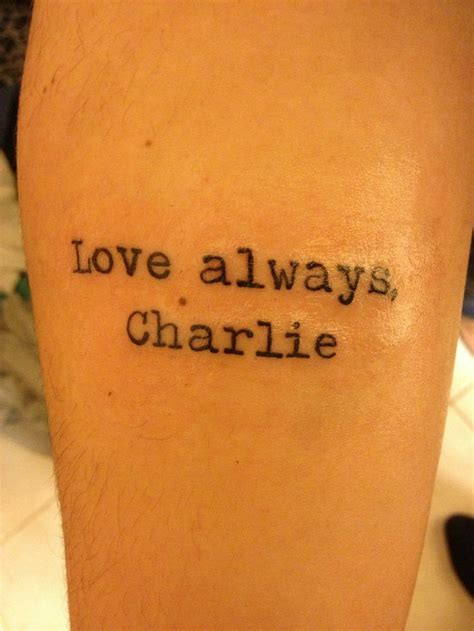 perks of being a wallflower tattoo 92 curated the perks of being a wallflower ideas by