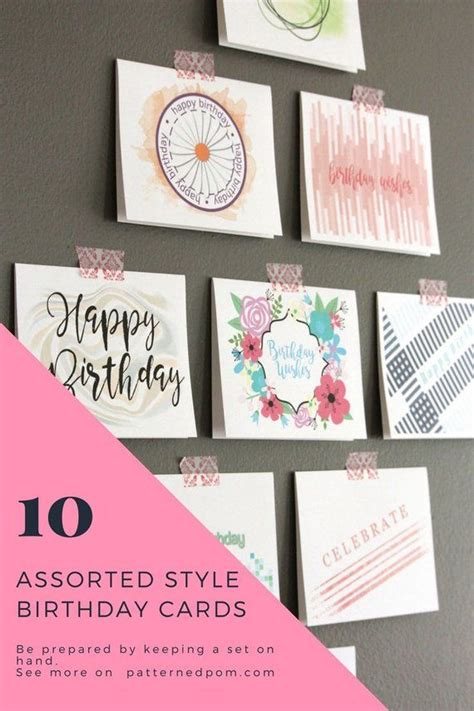 Boxed Birthday Greeting Cards