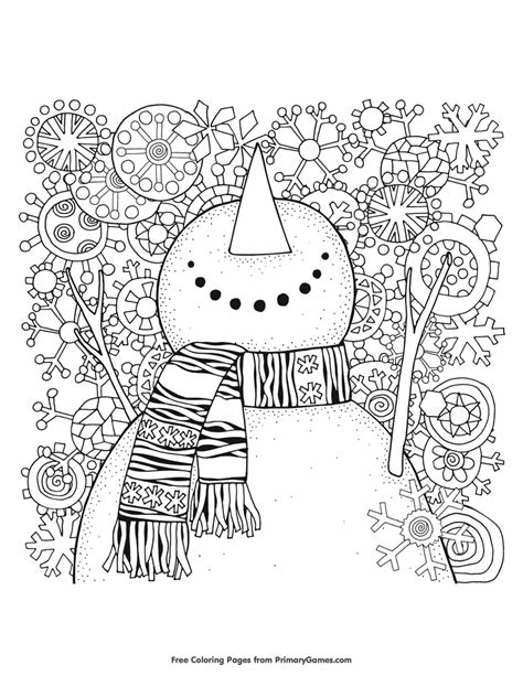 winter coloring pages  snowman coloring pages