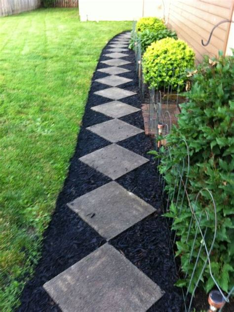 black landscaping black mulch landscaping ideas for an inexpensive