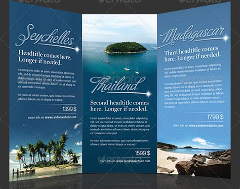 fishing charter guide rack card template design