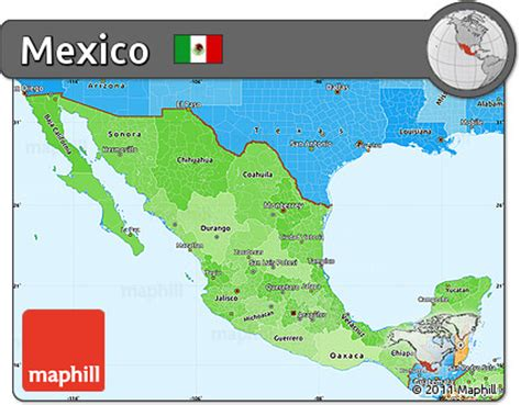 map of mexico political free political shades simple map of mexico