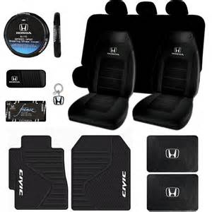 Honda Civic Floor Mats And Seat Covers Honda Civic Logo Seat Covers Mats Steering License Plate