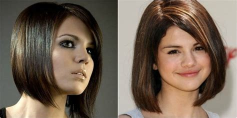 graduated bob haircut for chubby face 20 simple haircuts for round faces