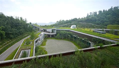 Landscape Types Historical Structures A Sprawling Green Roof Fuses This Community Center With