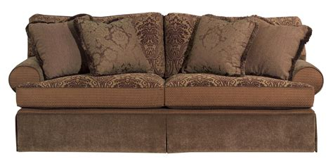 furniture tulsa skirted stationary sofa johnny