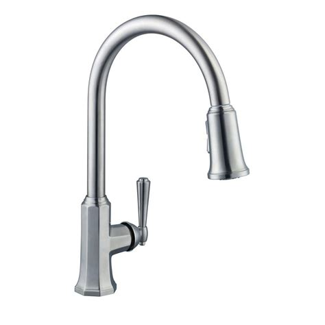 pegasus kitchen faucets pegasus sentio single handle pull sprayer kitchen faucet in brushed nickel 67070 4004 the