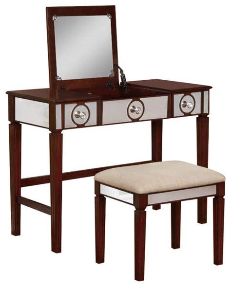 madison vanity bench madison walnut vanity set transitional bedroom