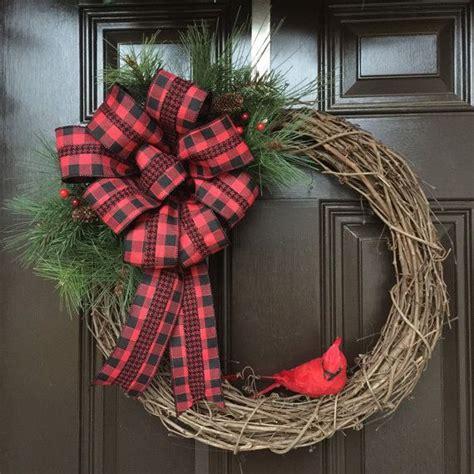 cardinal wreath grapevine wreath rustic cardinal wreath