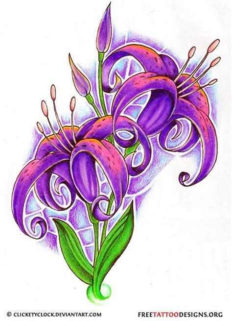 tattoo flash lily flower tattoo gallery 70 flower designs