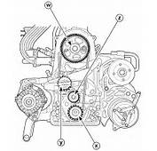 Daewoo Matiz SOHC Engine Timing Belt And Pulley Schematic Diagram
