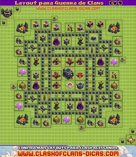 coc layout guerra cv 9 layouts cv9 para a guerra de clans clash of clans dicas