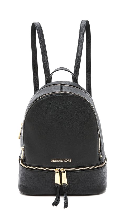 Michael Kors Rhea Backpack lyst michael michael kors rhea backpack black in black