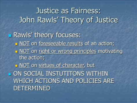 pattern theory of justice ppt justice as fairness john rawls powerpoint