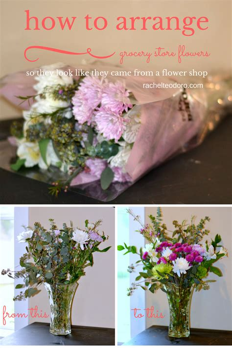 how to arrange grocery store flowers to look like flower shop flowers teodoro