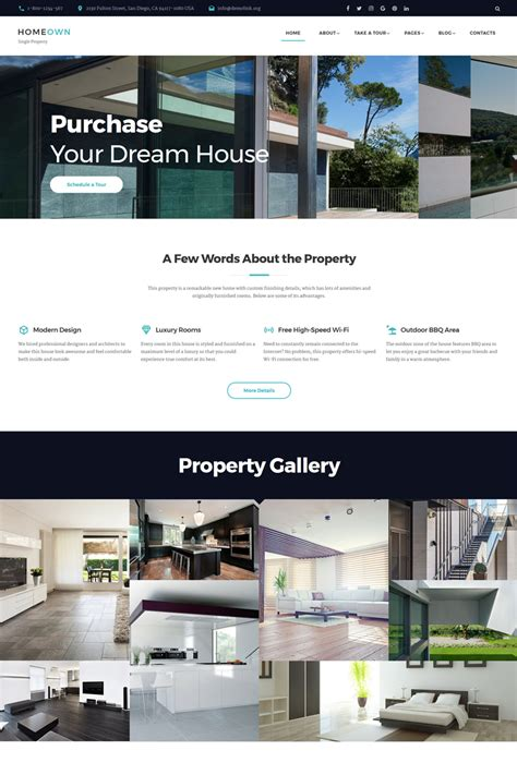 luxury home multipage html template