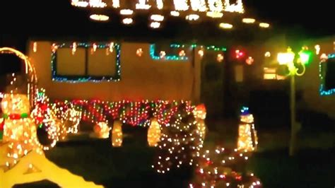 christmas tree lane ceres california youtube